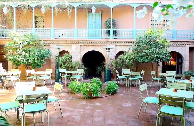Marrakesz, Marrakesz najlepsze restauracje, Marrakesz gdzie zjeść, jedzenie w Maroko, Marrakesz tagine, Marrakesz Cafe Jardin Majorelle , Maroko co zjeść,