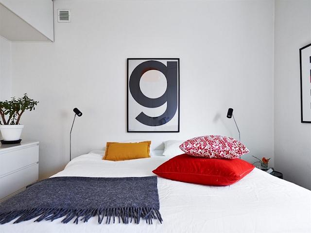 phòng ngủ Bắc Âu nhỏ hẹp nhưng cuốn hút