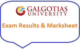 Galgotias University Result 2020