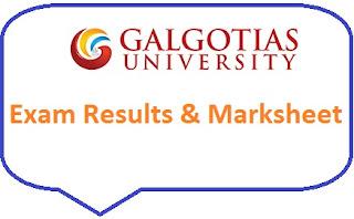 Galgotias University Result 2020