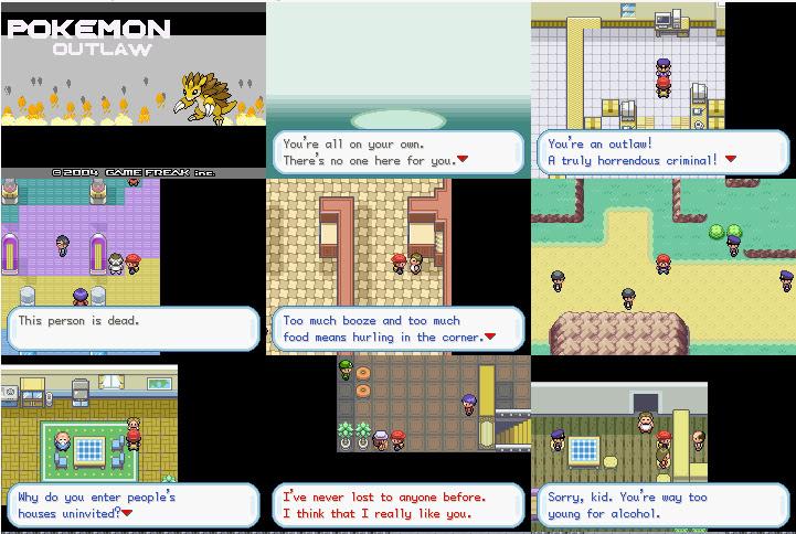 Pokemon Outlaw Rom Screenshots