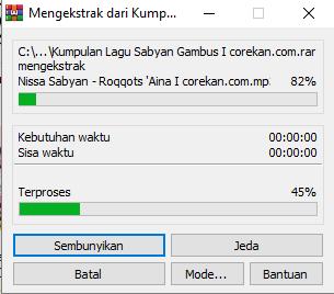 ekstrak file zip rar