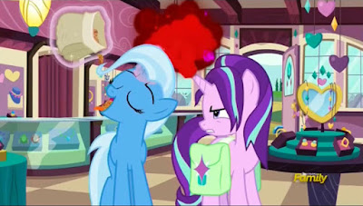 Trixie and a rather angry Starlight