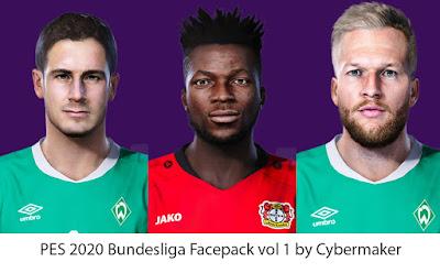 PES 2020 Bundesliga Facepack Vol 1 by Cybermaker