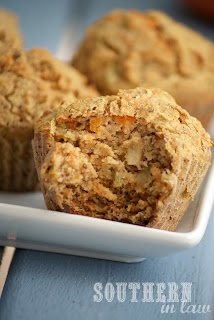 Clean Eating Carrot and Apple Muffin Recipe