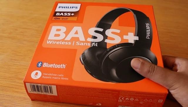 مراجعة سماعات بلوثوث philips bass+ on ear المميزات و العيوب فتح علبة سماعات فيليبس باس بلس لا سلكية