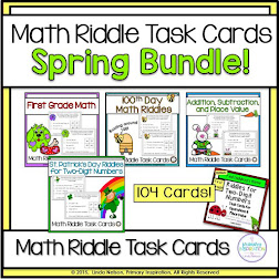 Spring Math Riddle Bundle