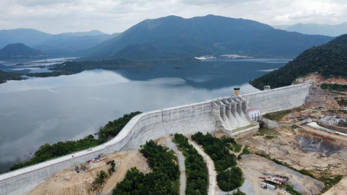 Công trình đầu mối hồ chứa Tân Mỹ vượt tiến độ