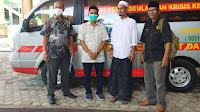 dr.Purnama Serahkan Mobil Ambulance Untuk Dayah Babussalam Al-Aziziyah Jeunieb