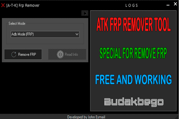 ATK FRP Remover Tool Special For Remove FRP Free and Working