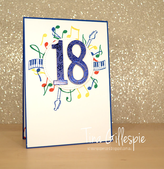 scissorspapercard, Stampin' Up!, Music From The Heart, Noble Peacock SDSP, Large Numbers Dies