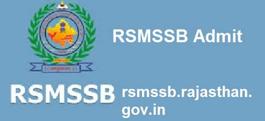 RSMSSB Junior Instructor Admit Card Available at  Download Now         |          Latest Education News