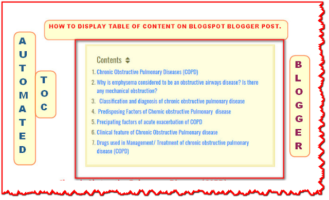 Add table of content in Blogger