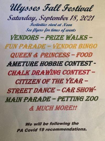 9-18 Ulysses Fall Festival