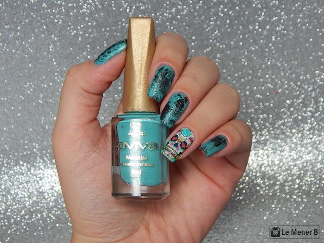 nail art caveira mexicana