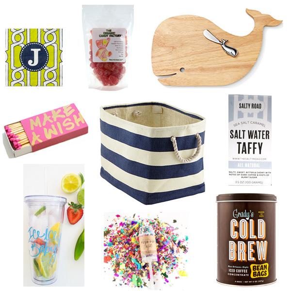 A Bar Cart In Brooklyn Nautical Inspired Summer Birthday Gift Basket