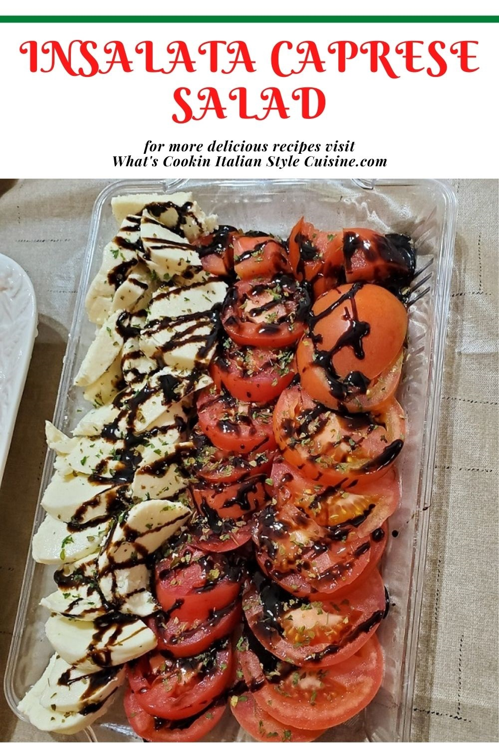 this is a pin for later caprese salad recipe