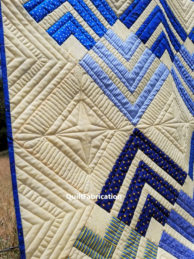 quilting on the 5th Grade quilt