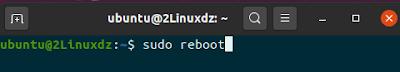sudo reboot