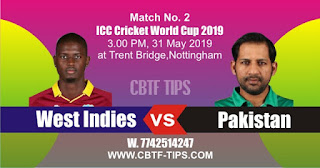 World Cup 2019 Match Prediction Tips by Experts PAK vs WI