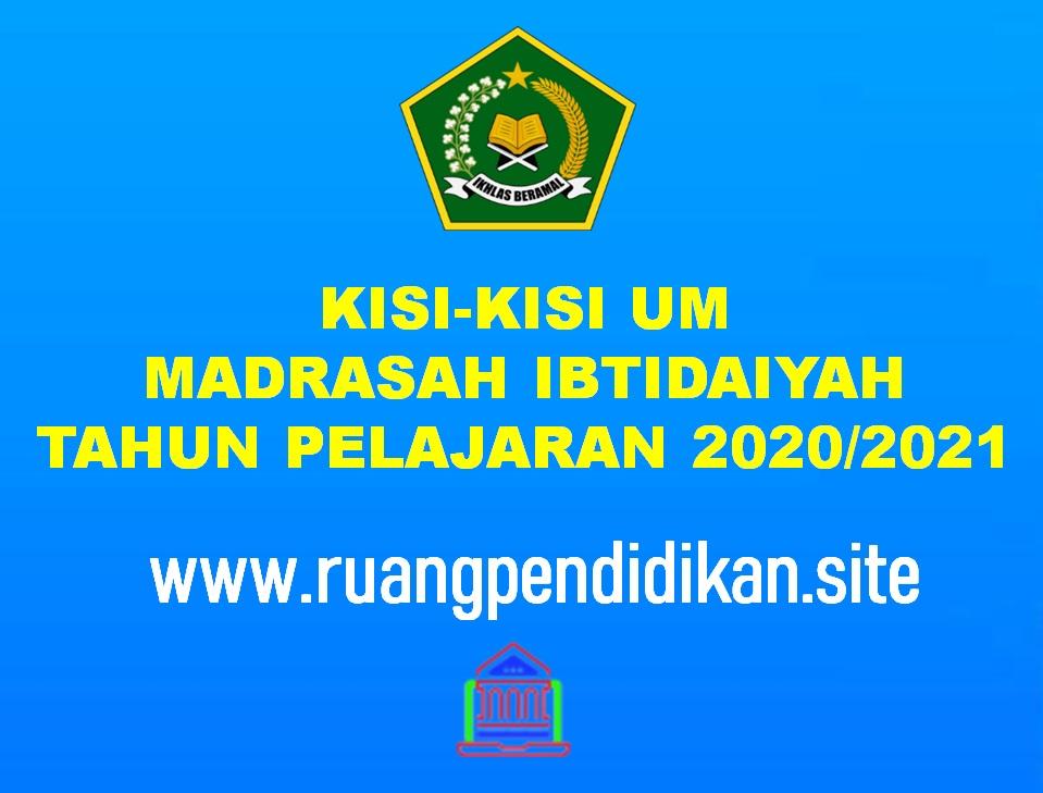 Kisi-kisi Ujian Madrasah (UM) Jenjang MI