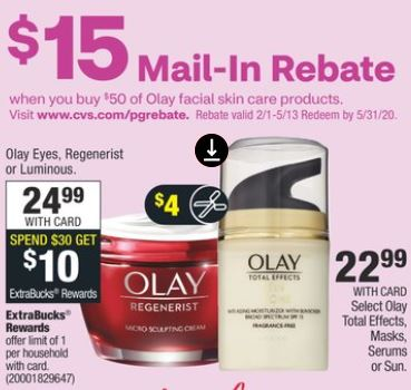 Olay Regenerist cvs deals