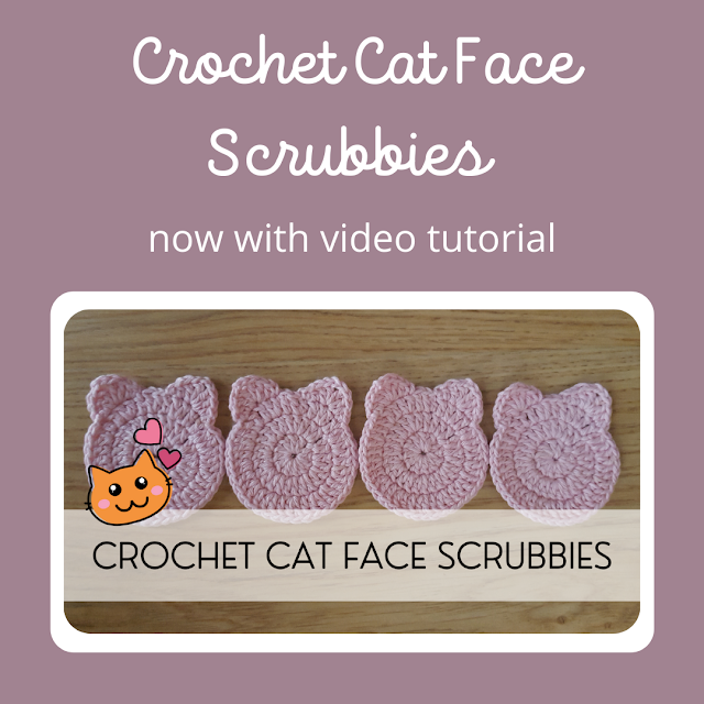 Crochet Cat Face Scrubbies - now with video tutorial