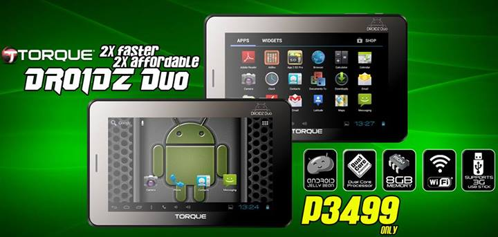 Torque DROIDZ Duo: Specs, Price and Availability in the Philippines