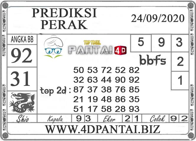 PREDIKSI TOGEL PERAK PANTAI4D 24 SEPTEMBER 2020