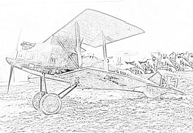biplanes coloring pages coloring.filminspector.com German Roland