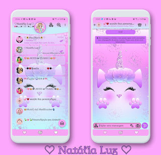 Collor Unicorn Theme For YOWhatsApp & Aero WhatsApp By Natalia