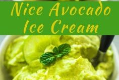 Nice Avocado Ice Cream