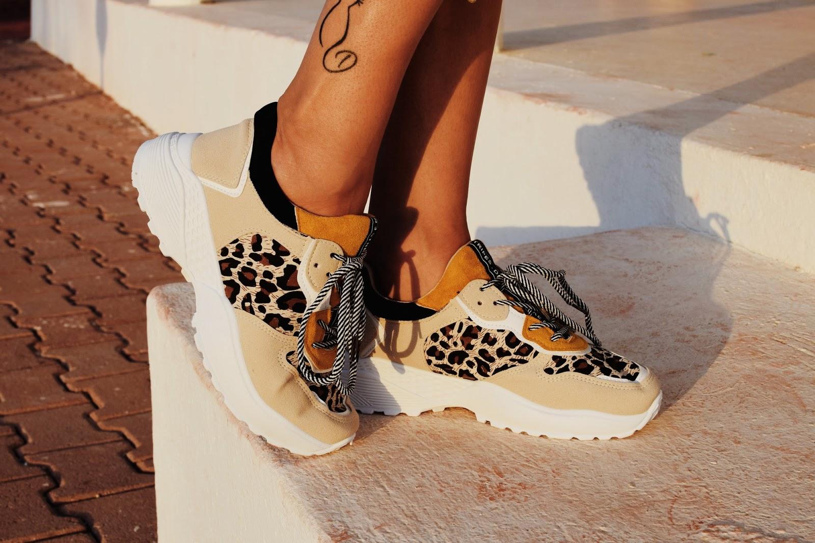 sportowe buty z panterką