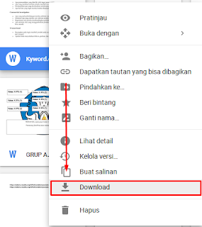 download file pada google drive