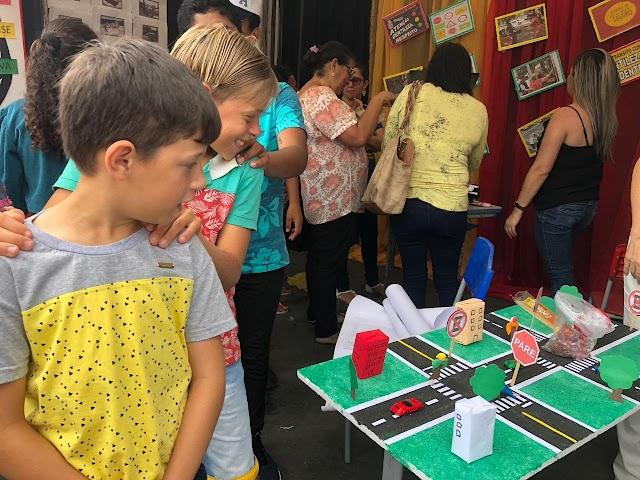 Trânsito é tema de exposição pedagógica em Chã Grande