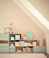 Beautiful decoration with lovely pastel colors combination