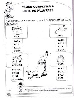 Foca - Atividades de alfabetização e atividades para imprimir 8