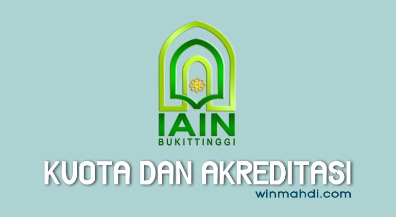 Kuota IAIN Bukittinggi dan Akreditasi Prodi