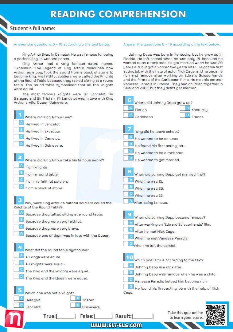 Reading examination