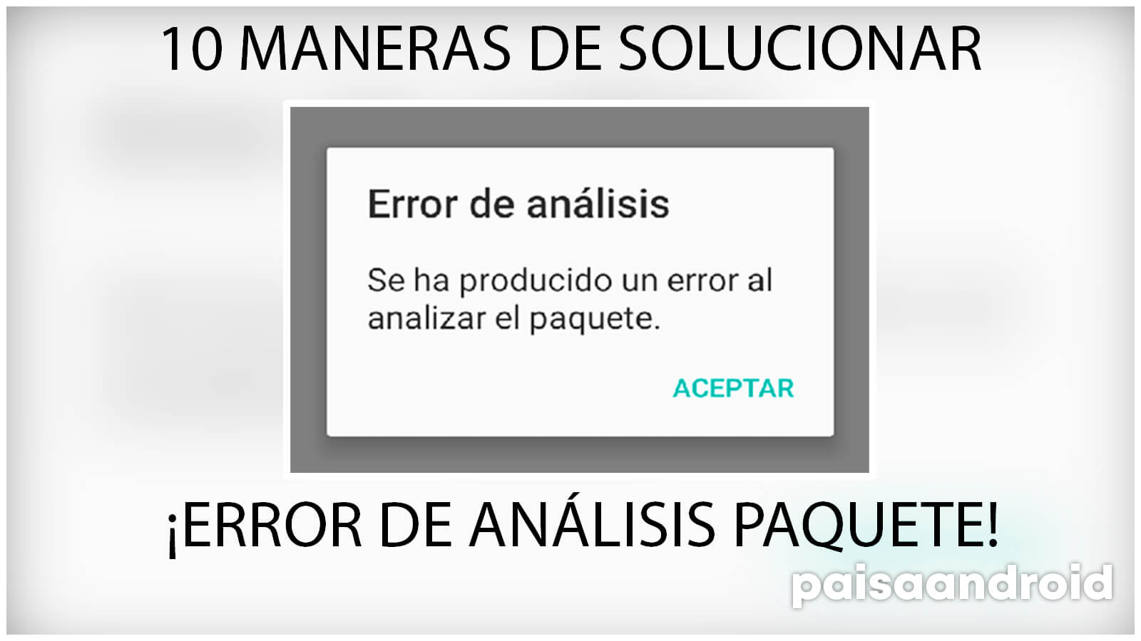 maneras de arreglar error de análisis de paquete