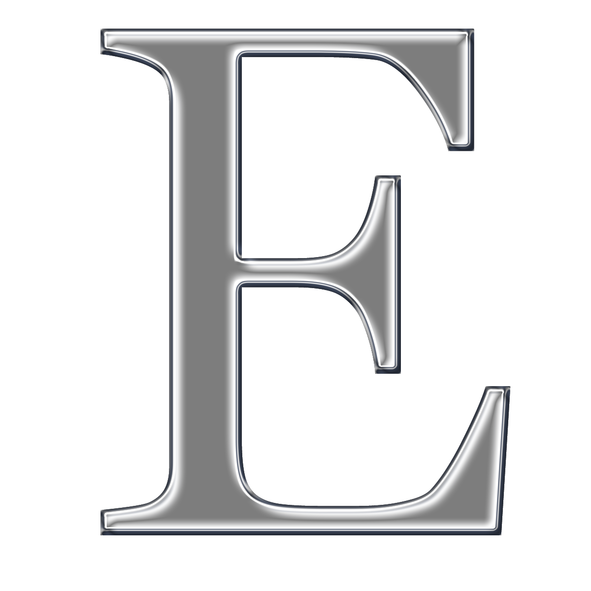 Free coloring pages of blue letter e