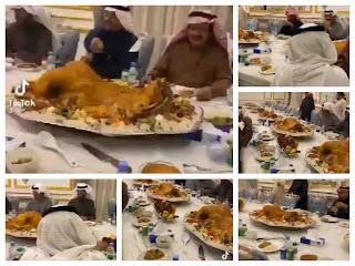 مقطع فيديو  للداعية السعودي، عائض القرني، وهو يقيم وليمة ضخمة يثير ضجة كبيرة
