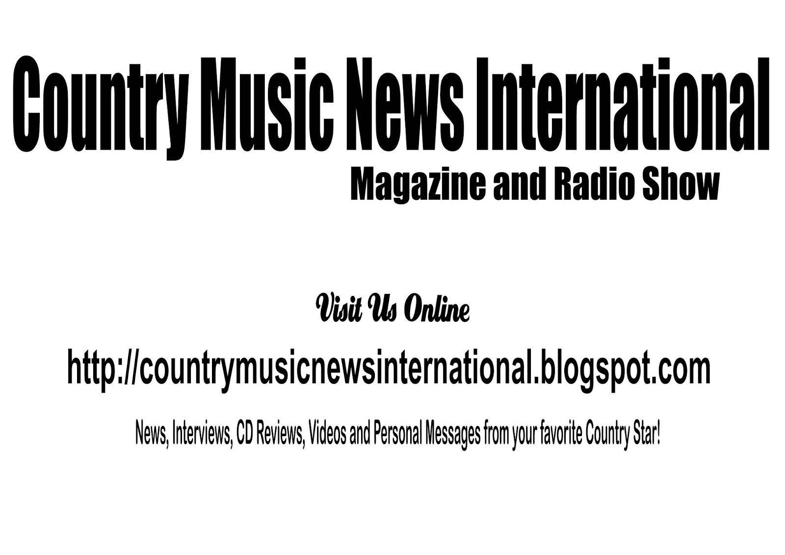 Country Music News International Magazine And Radio Show Apr 4 2020