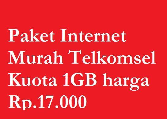 √ Paket Internet Murah Telkomsel Bulanan Kuota 1GB harga Rp.17.000 5