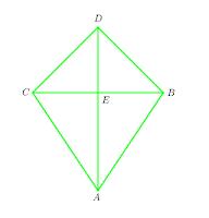segitiga-segitiga yang kongruen di dalam layang-layang