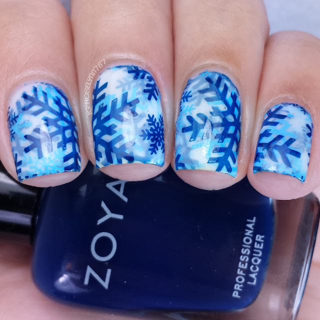 12 Days of Christmas - Snow Day Nail Art