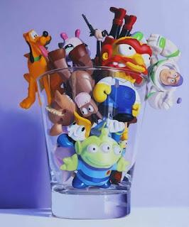 arte-infantil-hiperrealismo-que-asombra cuadros-con-juguetes-pinturas