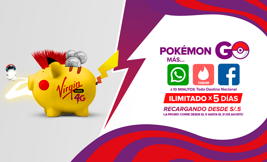 POKEMON GO GRATIS CON VIRGIN MOBILE