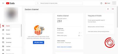 Silakan kalian kunjungi dasbor channel YouTube kalian