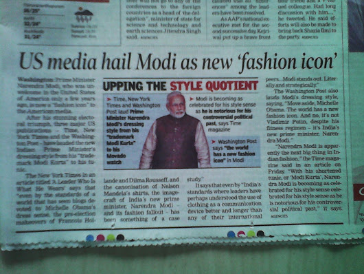 HOT KERALA NEWS: MODI IS THE NEW 'FASHION ICON' IN US